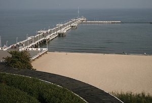 Europe's oldest wooden pier, in Sopot, Poland.