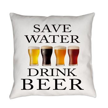 save_water_drink_beer_everyday_pillow